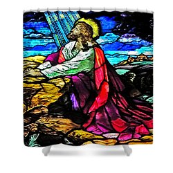 The Night Before The Cross Shower Curtain by Lydia Holly