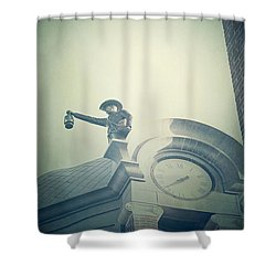 Shower Curtain featuring the photograph The Night Watchman by Trish Mistric