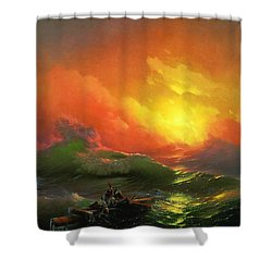 The Ninth Wave 1850 By Aivazovsky Shower Curtain by Movie Poster Prints