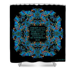 The Notorious Celtic Peacocks Shower Curtain