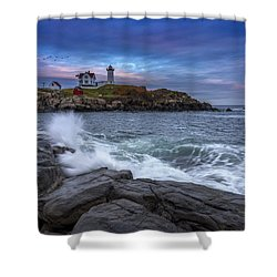 The Nubble In Color Shower Curtain