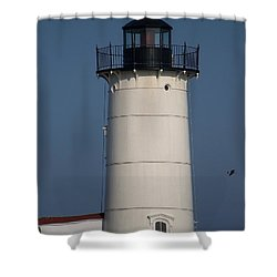 Shower Curtain featuring the photograph Lighthouse by Eunice Miller