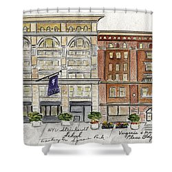 The Nyu Steinhardt Pless Building Shower Curtain