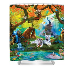The Oasis Shower Curtain by Aimee Stewart