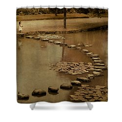 The Obstacle Is The Path Shower Curtain