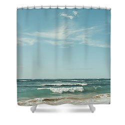 The Ocean Of Joy Shower Curtain by Sharon Mau