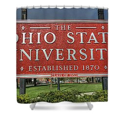 The Ohio State University Shower Curtain by David Bearden