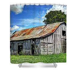 The Old Adkisson Barn Shower Curtain by Paul Mashburn