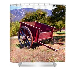 The Old Apple Cart Shower Curtain