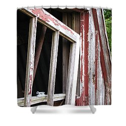 Shower Curtain featuring the photograph The Old Barn by Beth Vincent