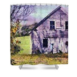 The Old Barn Shower Curtain by Elizabeth Coats