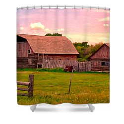 The Old Barn Shower Curtain by Michael Pickett