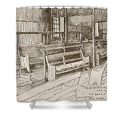 The Old Birmingham Meeting House, 1893 Shower Curtain by Walter Price