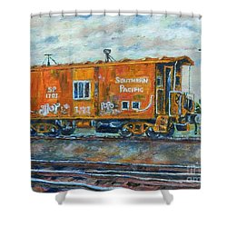 The Old Caboose Shower Curtain