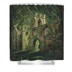 The Old Castle Shower Curtain by Marco Busoni