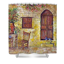 The Old Chair Shower Curtain by Lou Ann Bagnall