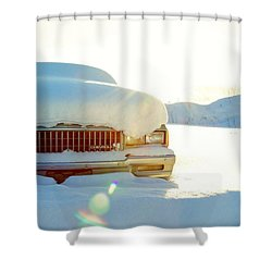 The Old Chevy Shower Curtain by Alanna DPhoto