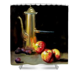 The Old Coffee Pot Shower Curtain