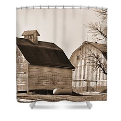 Shower Curtain featuring the photograph The Old Farm by Kirt Tisdale