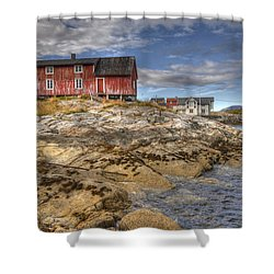The Old Fisherman's Hut Shower Curtain by Heiko Koehrer-Wagner