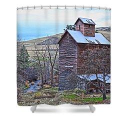 The Old Grain Storage Shower Curtain by Steve McKinzie