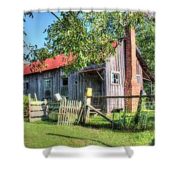 Shower Curtain featuring the photograph The Old Home Place by Lanita Williams