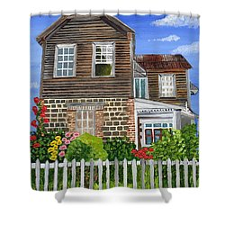 The Old House Shower Curtain by Laura Forde