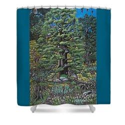 The Old Juniper Tree Shower Curtain