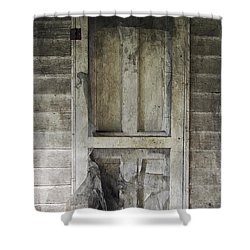 The Old Lowman Door Shower Curtain by Brian Wallace
