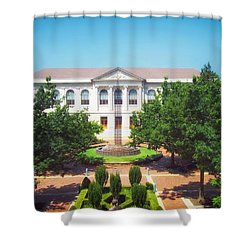 The Old Main - University Of Arkansas Shower Curtain