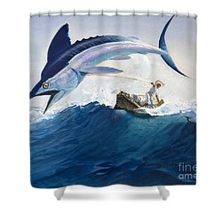 The Old Man And The Sea Shower Curtain