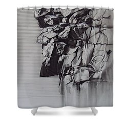The Old Man Of The Mountain Shower Curtain