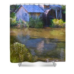 The Old Mill At Mabry Shower Curtain by Jean-Pierre Ducondi
