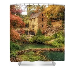 The Old Mill In Autumn - Arkansas - North Little Rock Shower Curtain by Jason Politte