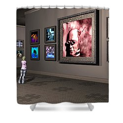 Shower Curtain featuring the digital art The Old Museum by John Alexander