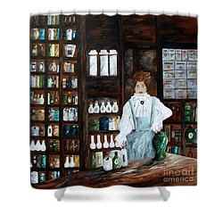 The Old Pharmacy ... Medicine In The Making Shower Curtain