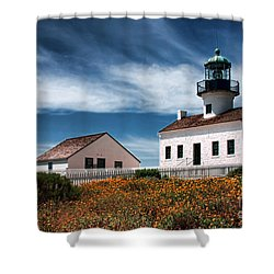 The Old Point Loma Lighthouse By Diana Sainz Shower Curtain