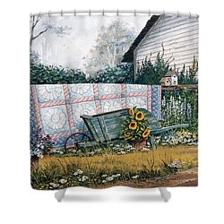 The Old Quilt Shower Curtain
