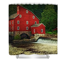The Old Red Mill Shower Curtain