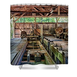 The Old Sawmill Shower Curtain by Betty Depee