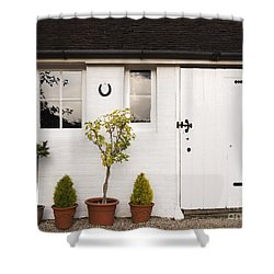 The Old Shed Shower Curtain by Louise Heusinkveld