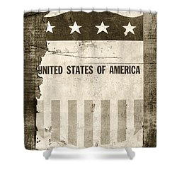 The Old Tag Bw Shower Curtain by Martin Bergsma