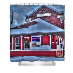 The Old Train Station Shower Curtain by Terri Gostola