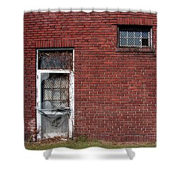 Shower Curtain featuring the photograph The Old Trap Brick Store by Rebecca Davis