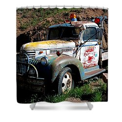 Shower Curtain featuring the photograph The Old Truck by Dany Lison
