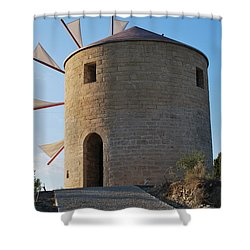 The Old Windmill 1830 Shower Curtain