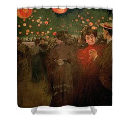 The Open Air Party Shower Curtain by Ramon Casas i Carbo