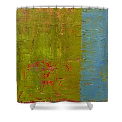 The Orange Wedge Shower Curtain