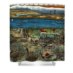 The Oregon Paiute Shower Curtain
