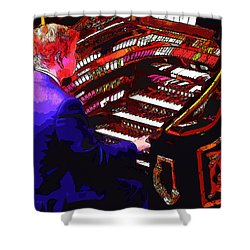 The Organ Player Shower Curtain